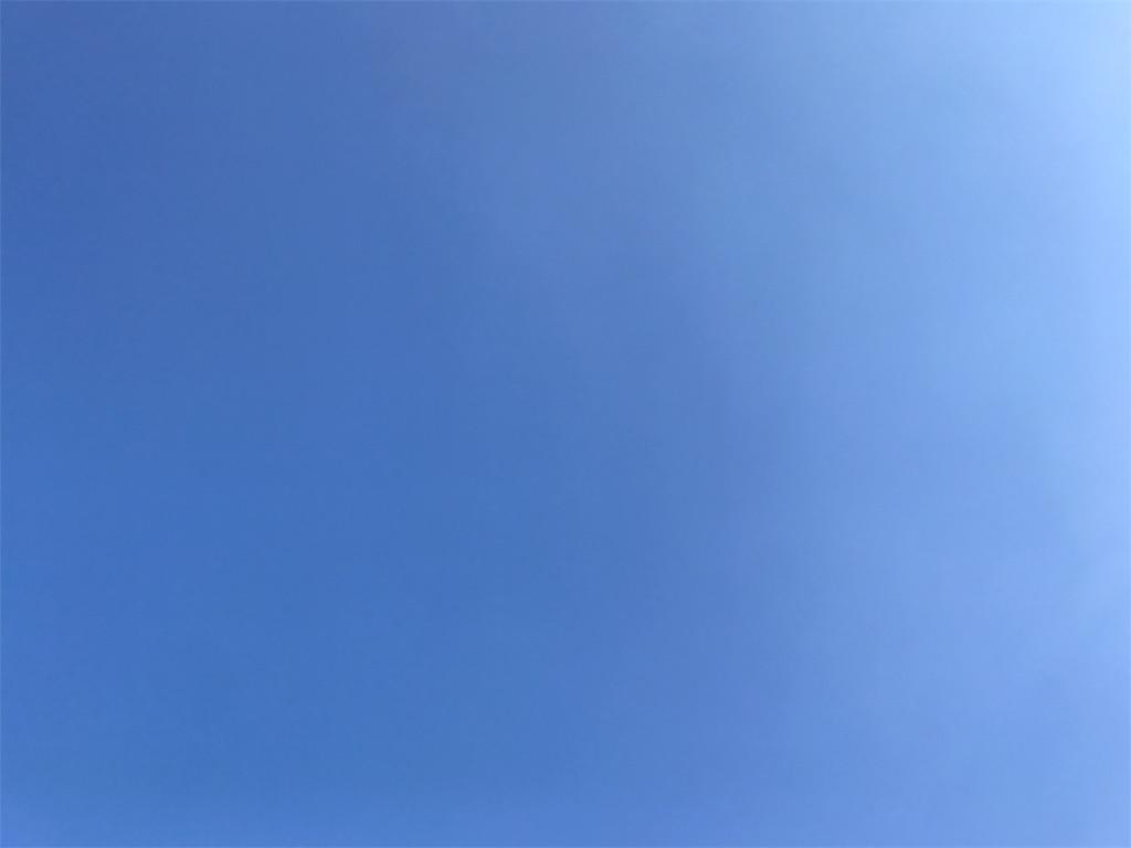 空の写真を撮って